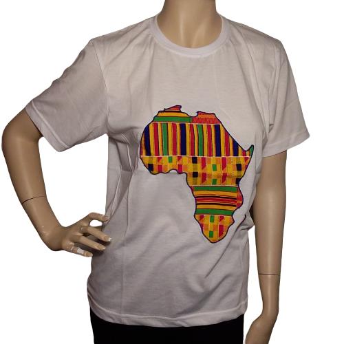 white Kente T-shirt