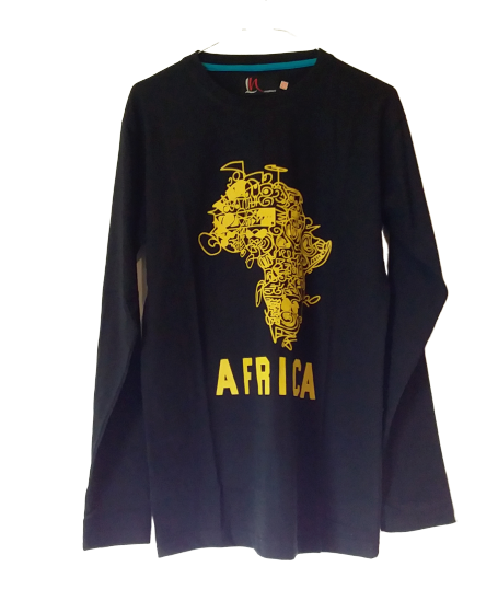 Long Sleeves Africa Map t- shirt