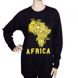 black t-shirt Africa-gold