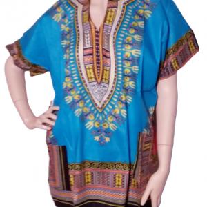 Blue African dashiki shirt