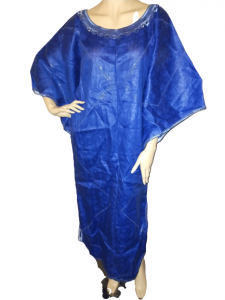 Blue-embroided-kaftan-dress