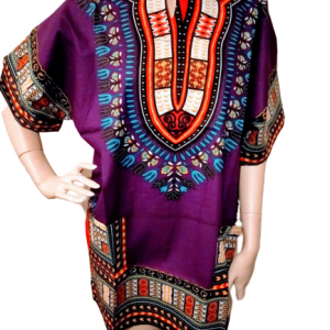 Purple dashiki shirt