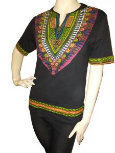 Black dashiki t-shirt