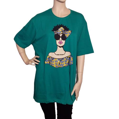 green urban african t-shirt