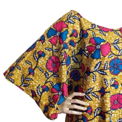 Wax print kaftan dress1