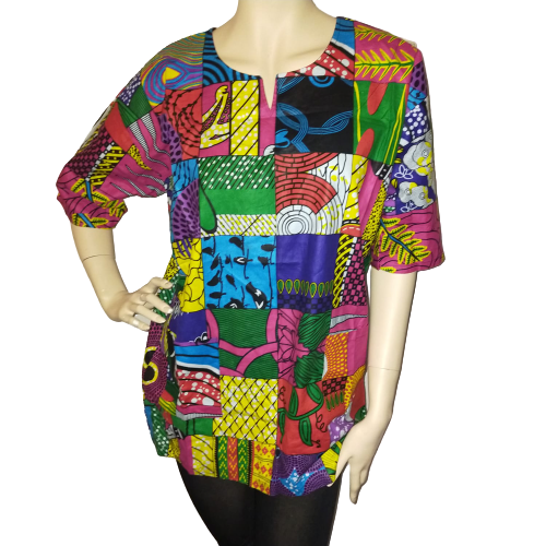 Patchtwork-kaftan-shirt