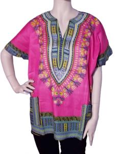 African pink dashiki shirt